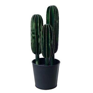 Cactus Floare artificiala ghiveci mare, Metal, Verde