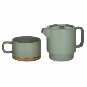 Capys Set Ceainic cu ceasca, Ceramica, Verde