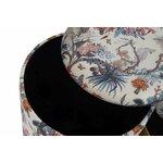 Carmela Set 2 taburete, Textil, Auriu