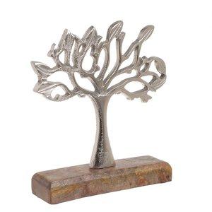Chan Decoratiune copac, Aluminiu, Argintiu