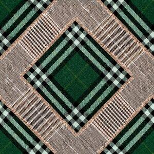 Checkered Patchwork Set 3 role tapet, Netesut, Verde