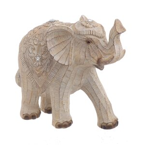 Chiron Decoratiune elefant, Polirasina, Bej
