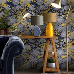 Chrysanthemums  Set 3 role tapet, Netesut, Galben