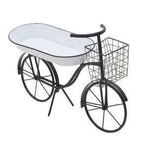 Cora Suport ghiveci bicicleta, Metal, Negru