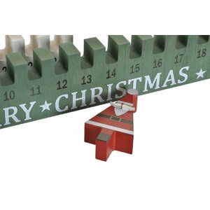 Craciun Calendar Advent, Lemn, Verde