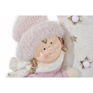 Cristinn Decoratiune fetita cu Led, Fibra de sticla, Bej