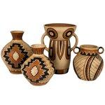 Crock Vas decorativ, Teracota, Multicolor