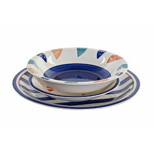 Daanyaal Set vesela 18 piese, Ceramica, Albastru