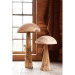 Danda Decoratiune ciuperca mica, Lemn, Bej