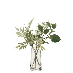 Dany Vaza cu plante artificiale, Plastic, Verde