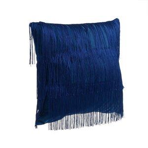 Emesa Perna decorativa franjuri, Textil, Albastru