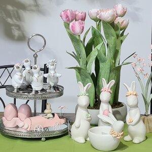 Emilee Lalele artificiale in ghiveci, Plastic, Roz