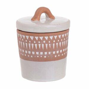 Finn Borcan mic cu capac, Ceramica, Alb