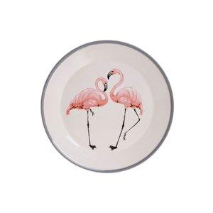 Flamingo Farfurie, Ceramica, Alb