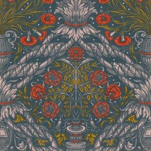 Floral Ornament Scarlet Set 3 role tapet, Netesut, Multicolor