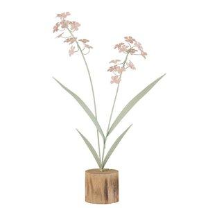Flovy Floare artificiala in suport lemn, Metal, Multicolor