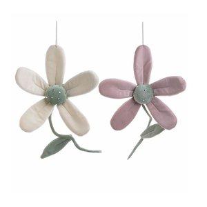 Folina Set 2 decoratiuni suspendabile floare, Textil, Roz
