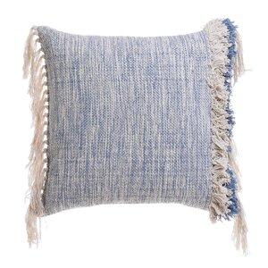 Fringe Perna decorativa, Textil, Albastru