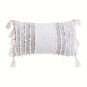Fringe Perna decorativa, Textil, Bej