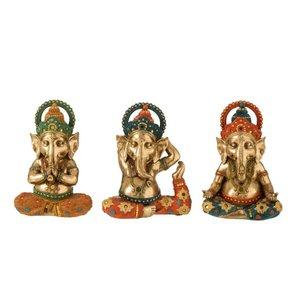 Ganeyoga Set 3 statuete, Polirasina, Multicolor