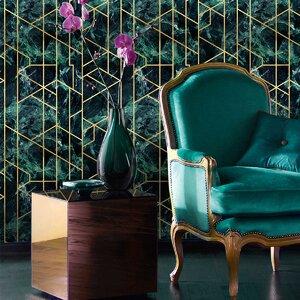 Gramercy Emerald Tapet, Netesut, Multicolor