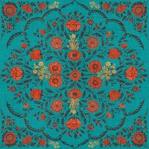 Hindu Bloom Topaz Set 3 role tapet, Netesut, Multicolor