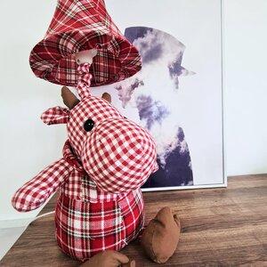 Hipo Veioza Hipopotam, Textil, Rosu
