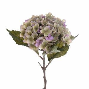 Hortensie, Floare artificiala, Plastic, Roz
