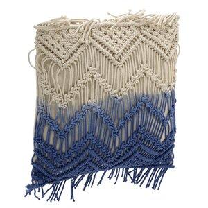 Jessica Perna decorativa, Bumbac, Albastru