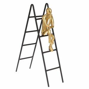 Ladder Decoratiune, Metal, Auriu