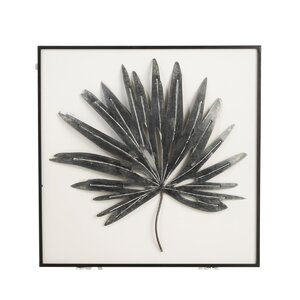 Leaf Point Decoratiune perete, Metal, Negru