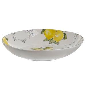 Lemon Bol, Ceramica, Alb