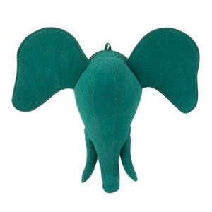 Lenos Decoratiune perete elefant, Catifea, Verde