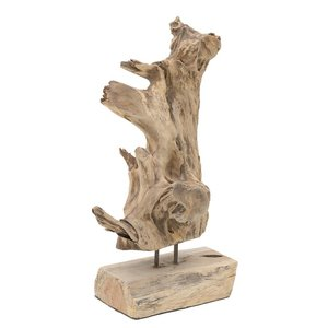 Log Decoratiune, Lemn, Crem