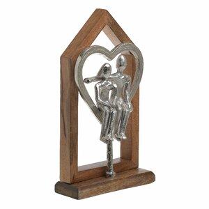 Love Statueta, Lemn, Maro