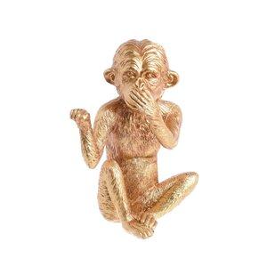 Monkey Decoratiune maimuta fata, Polirasina, Auriu