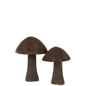 Mushroom Decoratiune ciuperca, Lemn, Maro