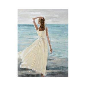 Nadash Tablou femeie ocean, Canvas, Multicolor