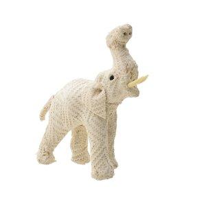 Narcis Decoratiune elefant, Textil, Alb