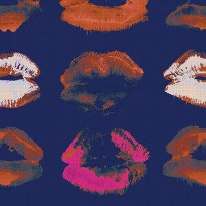 Neon Kiss Indigo Set 3 role tapet, Netesut, Multicolor