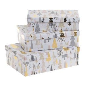 Nikky Set 3 cutii, Alb