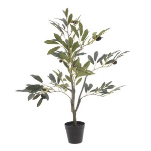 Olives Maslin artificial ghiveci, Plastic, Verde