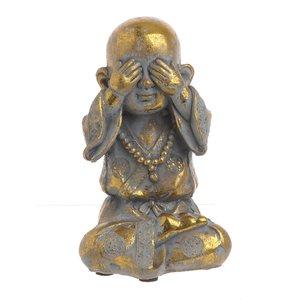 Oreste Statueta Shaolin, Ciment, Auriu