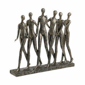 People Statuete decorative, Polirasina, Auriu