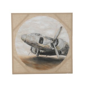 Plane Tablou, Canvas, Multicolor