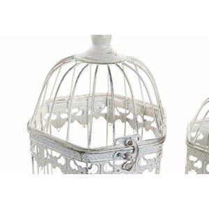 Ray Set 2 colivii decorative, Metal, Alb