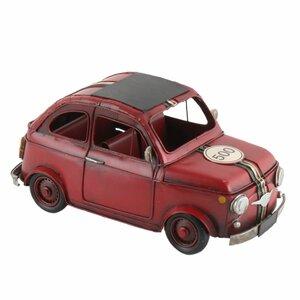 Red Decoratiune miniatura masina, Metal, Rosu