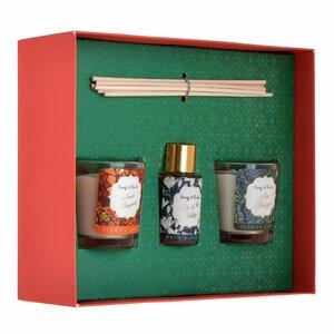 Roby Set difuzor uleiuri esentiale si lumanari parfumate, Sticla, Multicolor