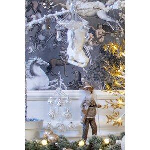 Roli Decoratiune globuri Craciun, Sticla, Argintiu