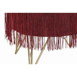 Runny Taburet, Textil, Rosu